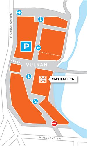 Kart p-hus Mathallen