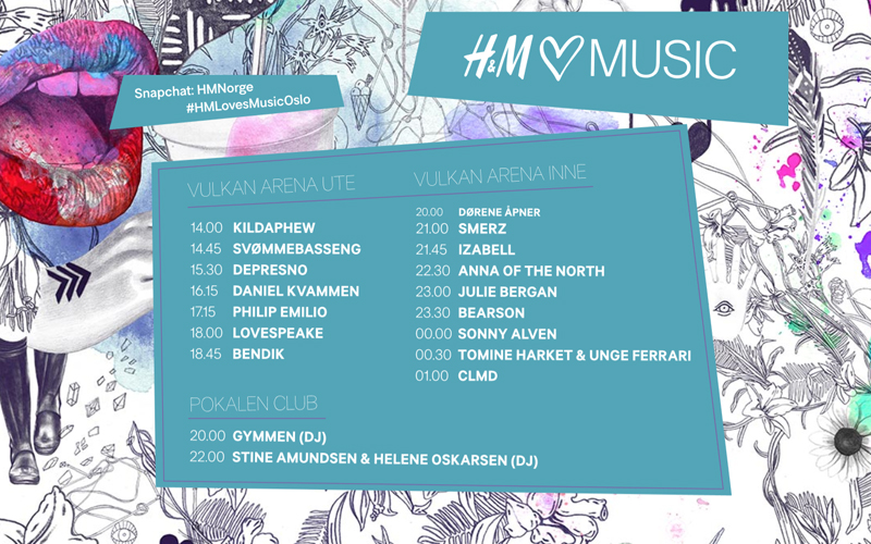 Program for H&M loves Music 2016