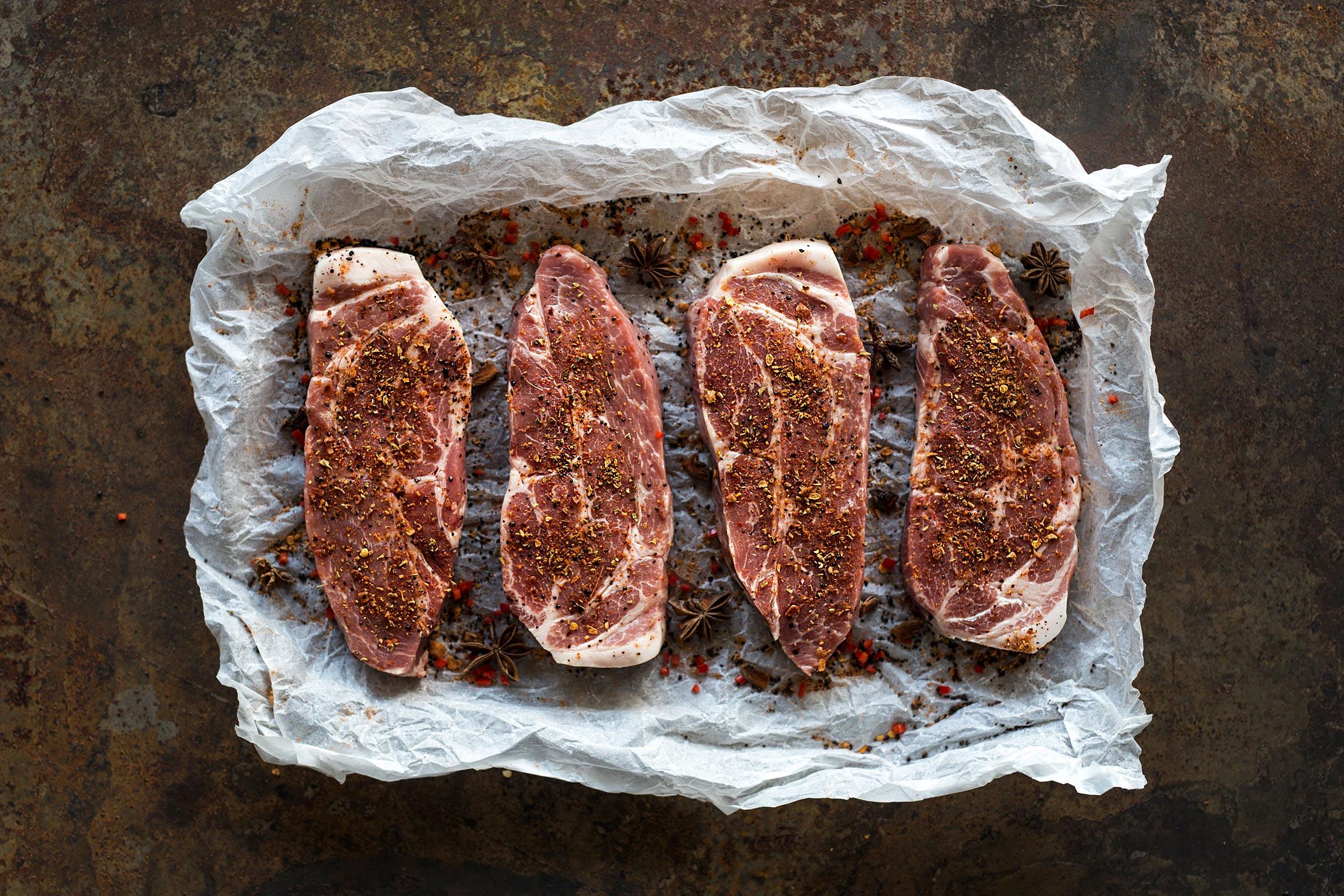 Bilde av kjøtt fra Annis Pølsemakeri