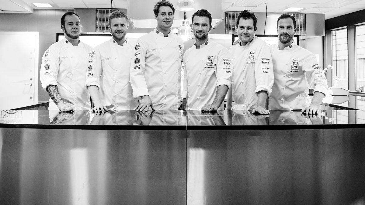 Bilde av finalistene til Årets Kokk 2015