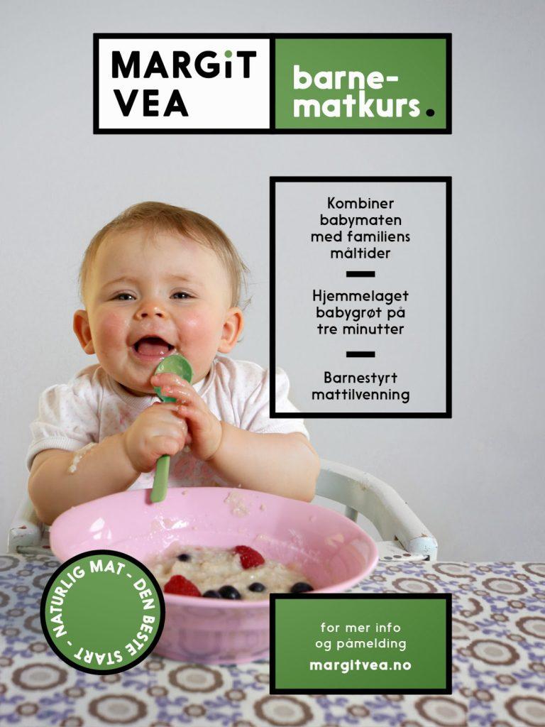 Bilde av promoteringsplakat for barnematkurs