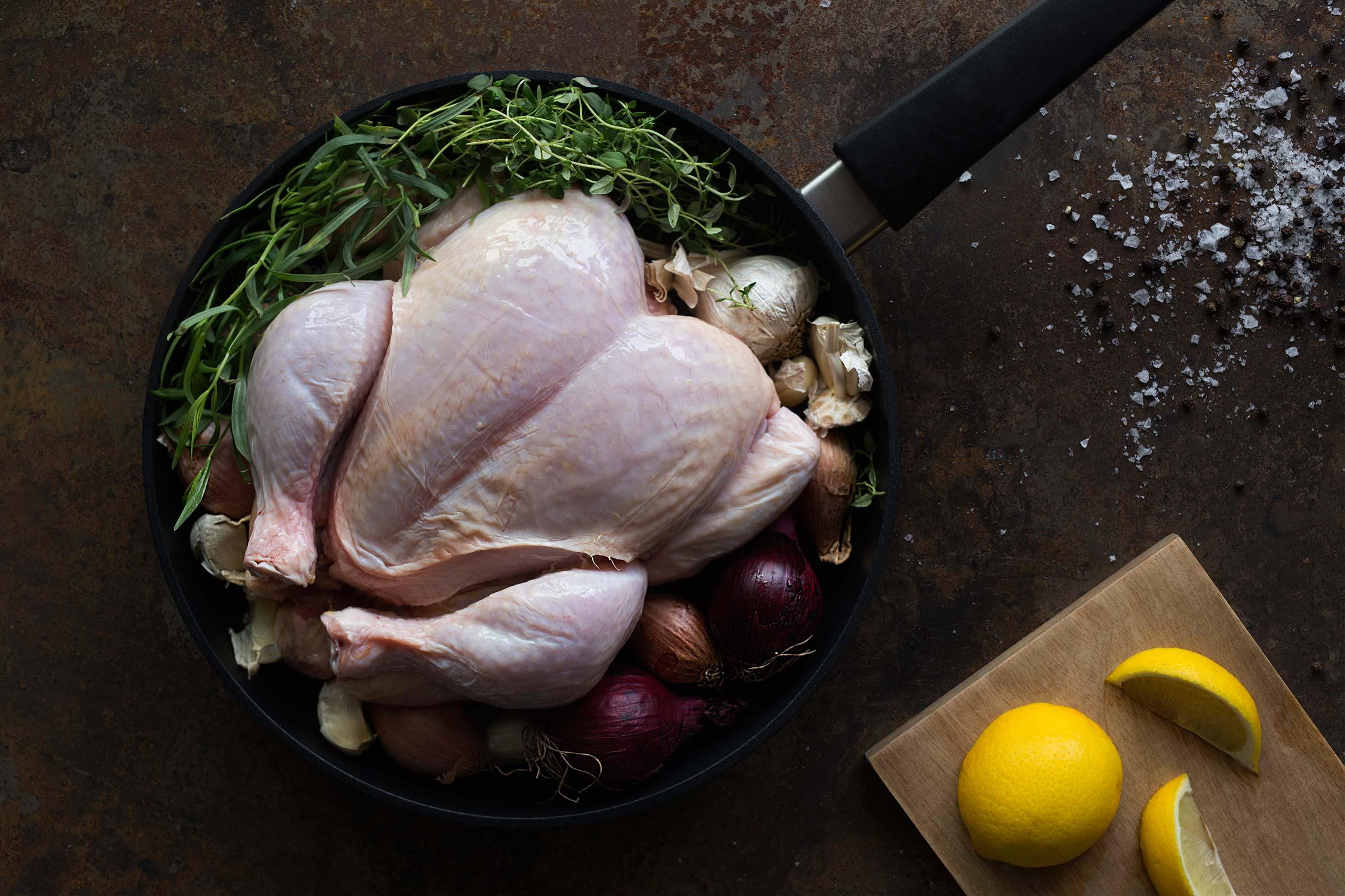 Bilde av en hel kylling