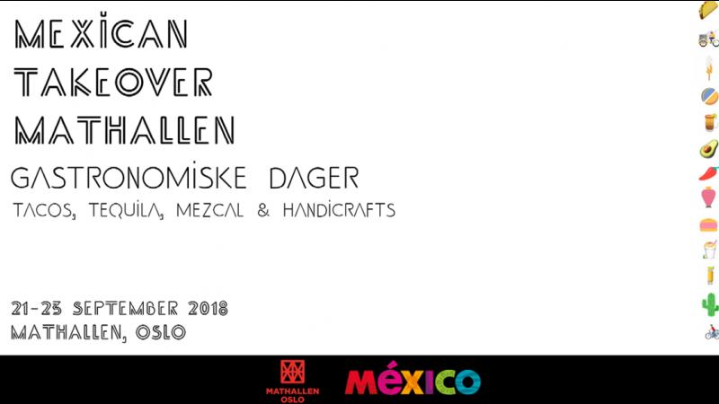 Den meksikanske ambassaden inviterer til fest i Mathallen