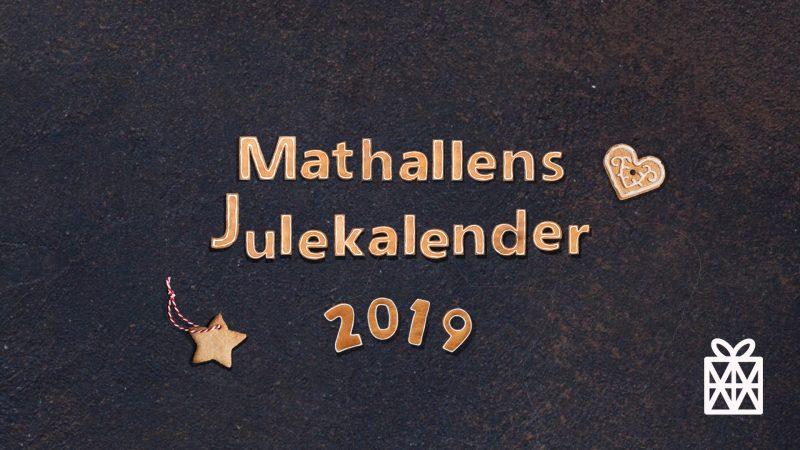 Mathallens julekalender 2019 – vinneroversikt