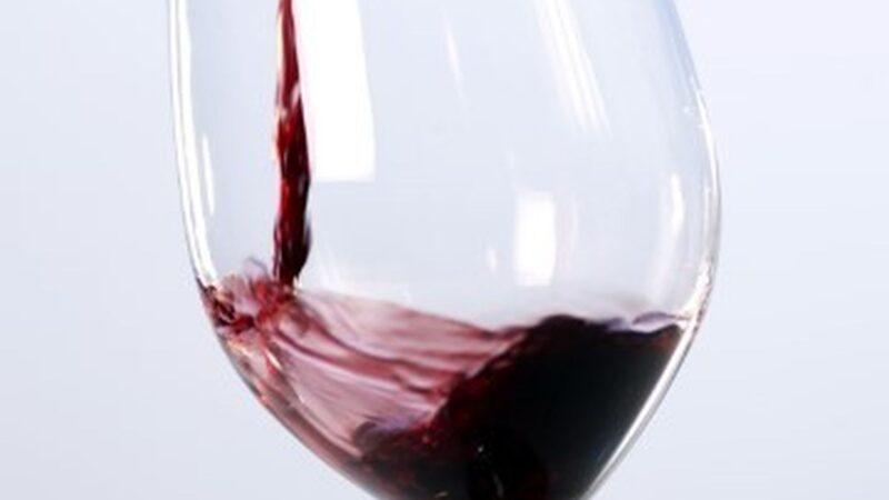Rødvin i glass
